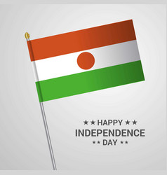 niger independence day typographic design with vector image
