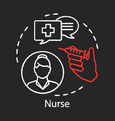 nurse concept chalk icon medical treatment idea vector image