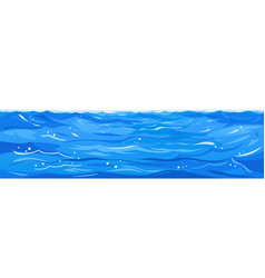Ocean waves landscape isolated vector