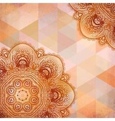 Ornate beige circle elements vector image