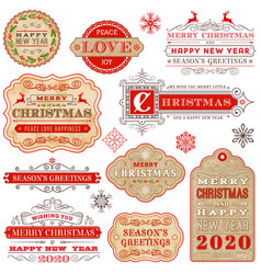 ornate christmas greeting cards stock vector image