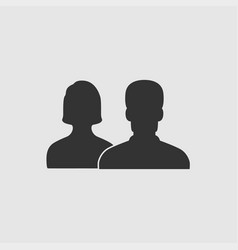 people - icon people men and woman icon vector image