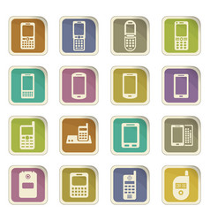 Phone icon set vector