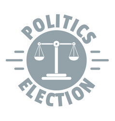 Politics election logo simple gray style vector