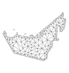 Polygonal wire frame mesh map of united vector