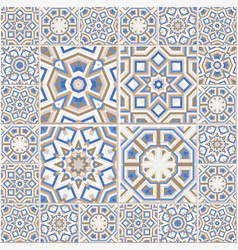 portuguese floor tiles design seamless azulejo vector image