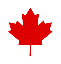 red leaf canada on white background canada flag vector image