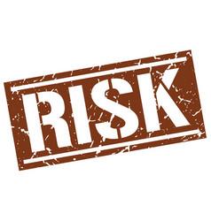Risk square grunge stamp vector