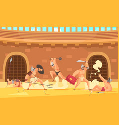 roman gladiators vector image