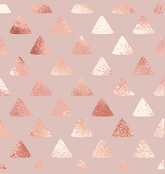 rose gold abstract background with triangles vector image