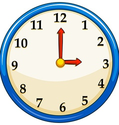 Rounc clock with red needles vector
