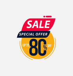 Sale special offer up to 80 off limited time only vector