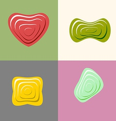 Set logos of plastic forms Heart icon logo logo vector image