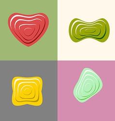 Set logos of plastic forms Heart icon logo logo vector