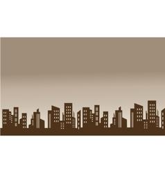 Skyline city silhouettes beautiful scenery vector