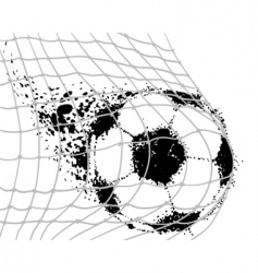 soccer ba vector image