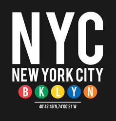 T-shirt design in the concept of new york city vector