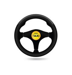 taxi car sign car wheell icon vector image