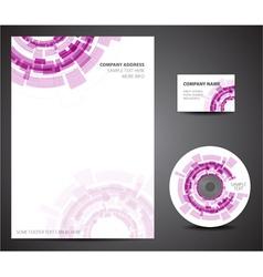 techno design template vector image