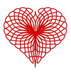 Thread heart icon simple style vector