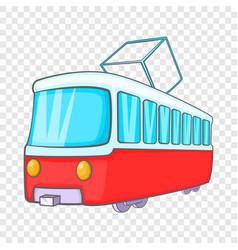 Tram icon in cartoon style vector