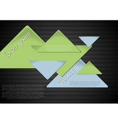 Triangles on the dark background vector image