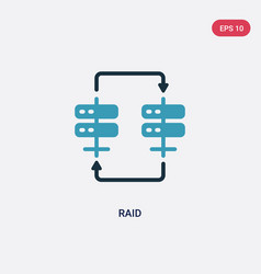 two color raid icon from web hosting concept vector image