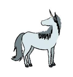 unicorn horn fantasy animal mythology vector image