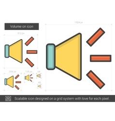 Volume on line icon vector