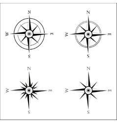 Windrose navigation symbol vector image