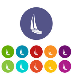 yacht icon simple style vector image