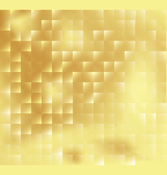 abstract square mosaic tile yellow golden vector image vector image