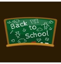 Back to school background blackboard for vector image