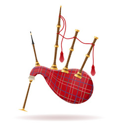 bagpipes wind musical instruments stock vector image vector image