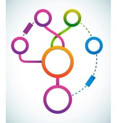 Empty color circle marketing flowchart vector image vector image