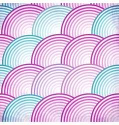 Pink retro fish scales seamless pattern vector image