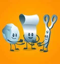 rock paper scissors game vector image vector image