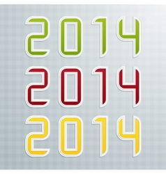 The Second Set of Colored Figures New Year vector image vector image