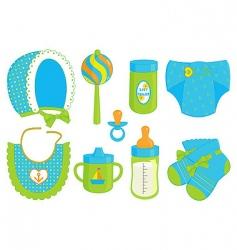 baby boy accessories vector image vector image