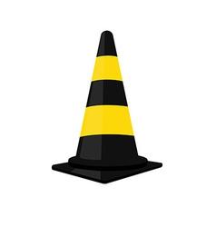 Black traffic cone vector image vector image