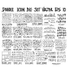 mega doodles collection back to school arrow vector image