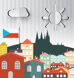 Prague Town The Capital City of Czech Republic vector image