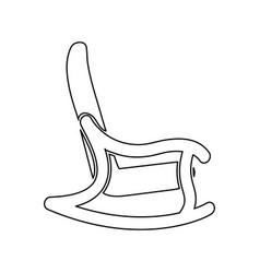 Rocking chair black color icon vector
