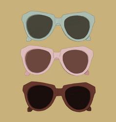 vintage sunglasses vector image