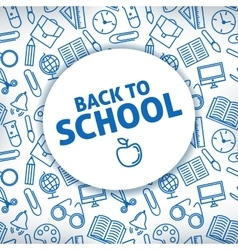 Back to school A white background vector image