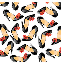 background from feminine loafer vector image