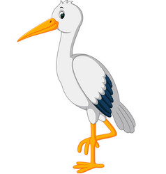 cute stork cartoon vector image