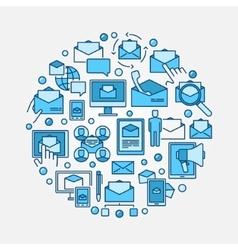 Email marketing circular vector image