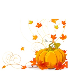 Autumn place card vector image vector image