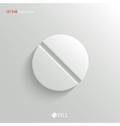 Medicine pill icon - white app button vector